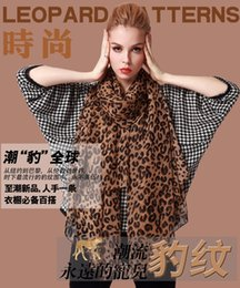 Wholesale Wholesale Rayon Velvet Scarf - 2016 Hot Sell New Woman fashion accessries Europe Leopard Velvet Chiffon Scarf Leopard Point scarf christmas gift Sunscreen Scarves 10pac lo