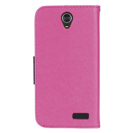 Wholesale Zte Flip Cell - For ZTE Grand X4 Newest Luxury PU Leather Wallet Cell Phone Case High Quality Folio Flip Cover Card Pocket with String Poly Bag