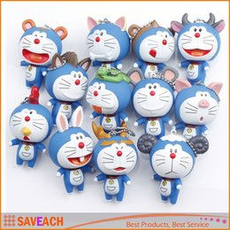 Wholesale Doraemon Figures - Anime Cartoon Doraemon Figure Pendant Keychain Accessories, Doraemon Cosplay Chinese Zodiac PVC Action Figures Model Toys Dolls