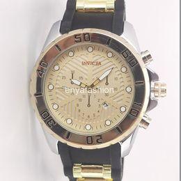 bf2f31012dd Invicta marca design exclusivo moda exército relógios homens esporte banda  de silicone militar relógios de pulso grande dial relógio de quartzo relogio  de ...
