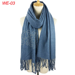 Wholesale Solid Gold Beads Wholesale - 2017 elegance cashmere70% and acrylic 30% solid plain with beads warm comfortable women winter scarf ladies pashmina dress