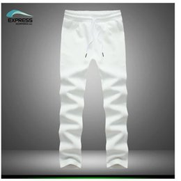 Wholesale wave pants - Wholesale-Autumn 2016 new wave of space cotton casual trousers men comfortable pants plus size code M-5XL in black and white