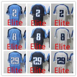 Wholesale Elite Football - Men's 2 Derrick Henry Jersey 8 Marcus Mariota 29 Demarco Murray 100% Stitched White Green Elite Football Jerseys