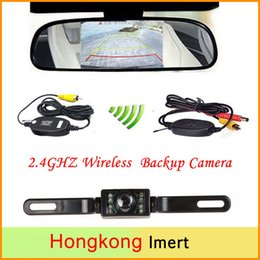 """Wholesale Wireless Rear View Camera Waterproof - Wireless Reverse Car Rear View Camera HD Video Parking LED Night Vision CCD Waterproof + 4.3"""" TFT Rearview Mirror Monitor"""