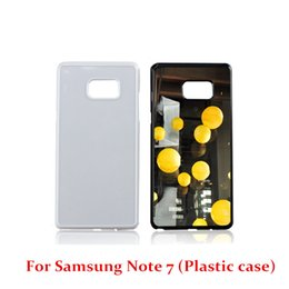 Wholesale Note Free Case - For Iphone 7 7 Plus Samsung NOTE 7 S7 S7edge DIY Sublimation Heat Press PC Cover Case With Aluminium Plates DHL Free