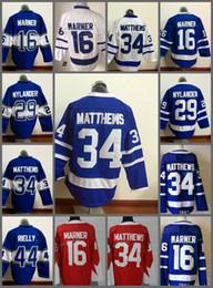 Wholesale Leafs Toronto - 2018 New Style Toronto Maple Leafs Jersey Men's 29 William Nylander 34 Auston Matthews 16 Mitchell Marner Hockey Jerseys 100% Stitched Logos