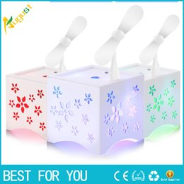Wholesale Mini Spray Fans - Ultrasonic 450 ml of LED Rainbow Aroma Diffuser With Anion Perfume Diffuser Humidifier usb mini fan Air Freshener for the Home Office