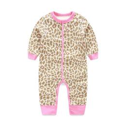 Wholesale Girls Leopard Print Jumpsuit - Cute Romper Leopard Baby Girls Outfit Fashion Pink 3-18M Leopard Print Jumpsuit Baby Girl Clothes