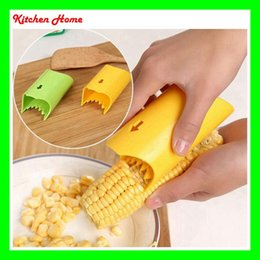 Wholesale Device Kitchen - Novelty Kitchen Corn Peeler Slicer Cutter Mini Cob Remover Device Stripper Shaver Knife Cut Kitchen Utensil Tools