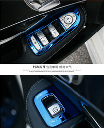 Wholesale Sticker Switch - TSWEI Car-styling ABS electroplating interior Car door Window switch cover sticker frame for Mercedes Benz C class w205 GLC 250