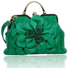 Wholesale Frame Bag Large - spring new women handbag with a big 3D flower,high quality PU leather tote bag female large shoulder messenger bags
