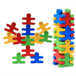 Новый деревянный творческий мультфильм баланс злодей сложены музыкальные строительные блоки дети дерево дети раннего детства образование мальчик от