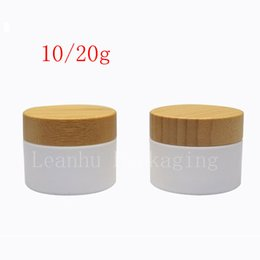 Wholesale Cream Jars Wholesale - Wholesale- 10G 20G 30G 50G Bamboo Bottle White Cream Jar With Bamboo Lid , Mask   Eye Cream Packaging Jar , Empty Cosmetic Container