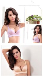 Wholesale More Bra - New lingerie No rims bra women's underwear More healthy and more beautiful Seamless bras gather adjustable 32-40 size A B C 316