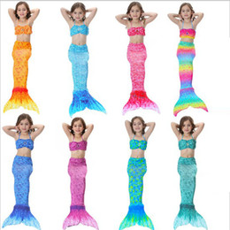 Wholesale Swimming Costume Kids - 1PC Newest Girls Swimsuit Swimming Mermaid Tail with Monofin Fin Swimmable Children Mermaid Tails Costume Child Kids
