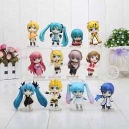 Wholesale Anime Pvc Figure Vocaloid - 12pcs set 6.5cm Vocaloid HATSUNE MIKU Family Figures Rin Len Ruka Kaito Meiko Anime Figure Toys Free shipping
