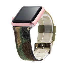 Wholesale Camouflage Watch Strap - Wholesale-V-MORO Camouflage Genuine Leather Strap For Apple Watch Band 42mm Replacement Strap iWatch Band Correa Apple Watch 38mm 42mm