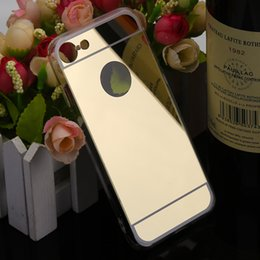 Wholesale Black Chrome Case - For iphone 7 X iphone7 iphone7plus 7th Mirror case Electroplating Chrome Ultrathin Electroplate Soft TPU Phone Case Cover