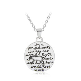 Canada Petite Mode Mignon Chats Catlike Amour Pendentif Pet ID Tag Collier Animaux Mots Tag Femmes Laides Filles Hommes Bijoux Argent Placage cheap word love pendant Offre