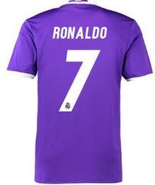 Wholesale Drop Shipping Shirts - Customized Thai Quality 16-17 Season 7 RONALDO Soccer Jerseys Shirt,Drop Shipping Accepted,Popular 10 JAMES 9 BENZEMA Football Jerseys Tops