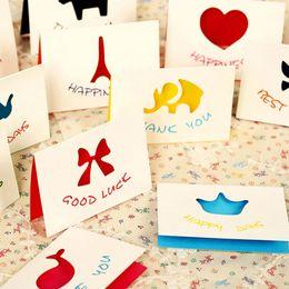 Mini tarjetas de deseos online-30 unids / lote Mini Tarjeta de Felicitación Con Sobres Universal Deseando Tarjetas de Navidad de Vacaciones Tarjeta de Mensaje Escuela de Papelería Escolar Papelaria