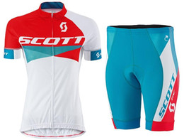 Wholesale Mountain Bike Clothing Scott - 2015 SCOTT Women Pro Cycling Jersey Roupa Ciclismo Breathable Quick-Dry Lycra GEL Pad Race MTB Bike Bib Pants Outdoor MTB mountain clothes