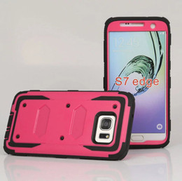 Wholesale Case Hard Grand - For Galaxy S6 S7 edge Armor Impact shell Hybrid Hard Shockproof Hard Case Cover Combo For Samsung Grand Prime G530 J3 Core G360