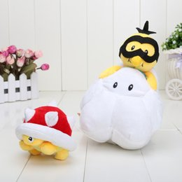 Wholesale Super Mario Bros Plush Characters - Super Mario Bros plush Toys Characters Hammer Turtle LAKITU SPINY Stuffed Dolls Toys for Kids best Chritmas Brithday Gifts 18cm