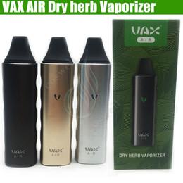 Wholesale Newest E Cigs - Newest VAX AIR dry herb vaporizer herbal vape pen kit Portable 3000mAh Battery WAX mini Airzer elite pro TC e cigs PAX Vapor Mod Kits DHL