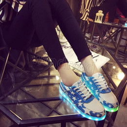 Wholesale Cheapest For Shoes - Cheapest Hot sale 7 Colors USB Rechargeable LED Shoes Light Up Shoes Flashing Sneakers for Unisex Men and Women Free shipping DHL 5pcs