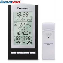 Wholesale Weather Barometers - Excelvan Weather Forecast with Sensor Monitor RCC For Temperature Dew Point Barometer Humidity Tendency Indicator <$18 no tracking