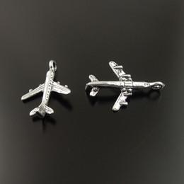 Argentina Estilo antiguo aleación de plata avión colgante encanto collar pulsera diy arte 18mm 35888 100 unids fabricación de joyas Suministro