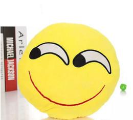 Almofada cute lindo emoji smiley travesseiros on-line-23 Estilos de Almofada Bonito Emoji Smiley Almofadas Bonito Dos Desenhos Animados Facial Almofadas de Almofada de Expressão QQ Amarelo Rodada Travesseiro Recheado De pelúcia navio livre