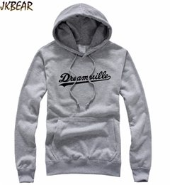 Wholesale Fleece Lined Hoodie Xl - Wholesale-Hot-sale J Cole Dreamville Print Hoodies for Men and Women Jermaine Lamarr Cole Crewneck Pullover Fleece Lined Hoodie S-XXL
