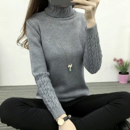 Wholesale Female Panel - 2017 Women Turtleneck Winter Sweater Women 2017 Long Sleeve Knitted Women Cashmere Casual Pullovers Female Jumper Tricot Tops