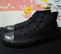 Wholesale D 35 - Ship with box! 2016 fashion high model canvas shoes unisex shoes for lovers of all size 35-44 eur