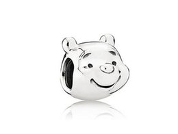 Wholesale Cute Bracelet Stone Natural - 925 Sterling Silver Cute Bear Charms Beads Fit European Bracelets Fashion Natural Stone Jewelry 2016 In Stock