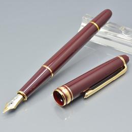 rote rollen Rabatt Heißer verkauf 163 weinrot harz kugelschreiber / kugelschreiber / füllfederhalter büromaterial luxus dame Schreiben tinte stifte Geschenk M8