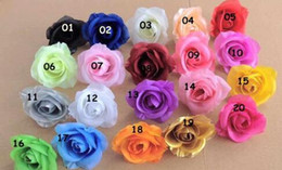 Wholesale Single Headed Peonies - BEST SELLER FLOWER HEADS 100p Artificial Silk Camellia Rose Fake Peony Flower Head 7--8cm for Wedding Party Home Decorative Flowewrs