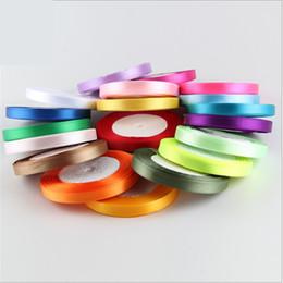 Wholesale Ribbon 6mm - Cotton Silk Satin Ribbon 6mm 25 Yard 22M Organza Polyester Ribbon For Wedding Party Decoration Webbing Crafts Gift Packing Belt