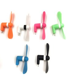 Wholesale Usb Cooling - Mini USB Fan 5pin Flexible Small-scale Portable Super Mute Cooler Cooling For iPhone Samsung Android Cellphone