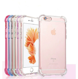 Wholesale Back Case Iphone Transparent - For iPhone X 8 7 6 6S Plus Case Transparent Air Cushion Shockproof TPU Mobile Phone Cases Back Cover