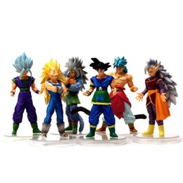 Wholesale Anime Action Figures - New 6Pcs  Lot 15Cm Dragon Ball Dbz Anime Goku Vegeta Piccolo Gohan Super Saiyan Joint Movable Dragon Ball Z Action Figures Toy