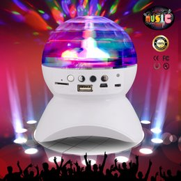 Wholesale Disco Speakers - Wireless Speaker 3W LED Light Ball Stage Lights Disco Lamp Magic Bluetooth 2.1 + EDR RGB LED Light Support TF Card FM