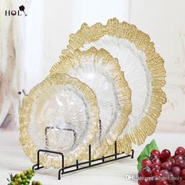 Wholesale Unique Cheap Plates - Cheap Unique Hotel and Home Decoration Silver Glass Wedding Charger Plate Wholesale