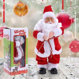 Wholesale Christmas Electric Santa - Christmas Decorations For Home Dancing Singing Santa Claus Electric Christmas Toys Christmas Ornament Party Decor