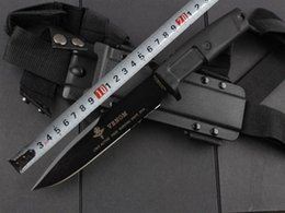 Wholesale Hunting Knife Scabbards - EXTREMA RATIO knives Special Forces tactical knife outdoor camping survival knife Multifunction leggings scabbard Straight knife hunting