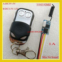 Wholesale Long Distance Remote Controls - Mos No Sound Mini Receiver Transmitter DC3.5V 3.7V 5V 6V 7.2V 8.4V 9V 12V contactless Remote Control Switch System 433 Long Distance