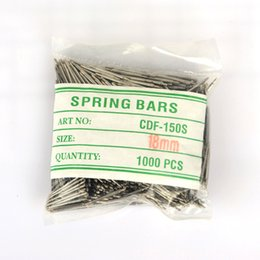 Wholesale wholesale watch parts - Wholesale-High Quality 1000pc bag 18MM stainess steel Watches for Parts Spring Bars Watches Accessories for Spring Bars
