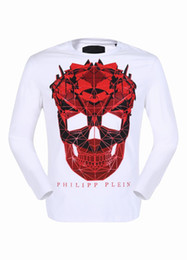 Wholesale Men Sweater Large - 2017 Autumnal Long Sleeve Shirts Mens Polo Shirt Cotton Sweater Large Skulls & Diamonds Tee Shirt winter Boys Sports Coats 18108